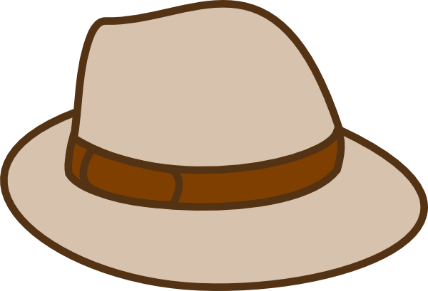 600x409 Beige Hat Clip Art