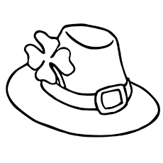 Hat Colouring Page