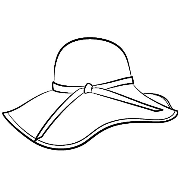 600x600 Floppy Hat Coloring Pages Sun