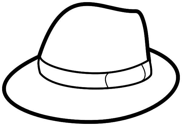 600x415 Gentleman Hat Coloring Pages Gentleman Hat Coloring Pages