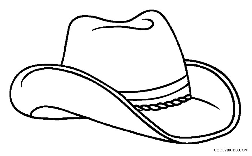 Hat Colouring Page Free Download Best Hat Colouring Page