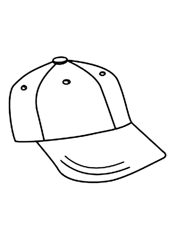 600x777 How To Draw Baseball Cap Coloring Page Sun