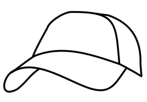 600x417 Image Of Baseball Cap Coloring Page Coloring Sun