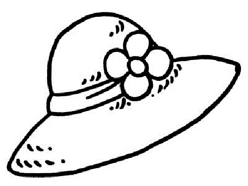 500x375 Lovely Hat Coloring Page 83 On Free Colouring Pages With Hat