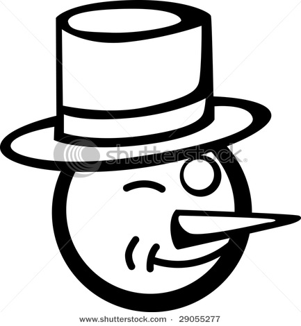 433x470 Page Picture Of A Winking Snowman In A Clipart Illustration