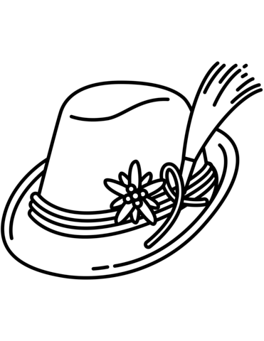 371x480 Bavarian Hat Coloring Page Free Printable Coloring Pages