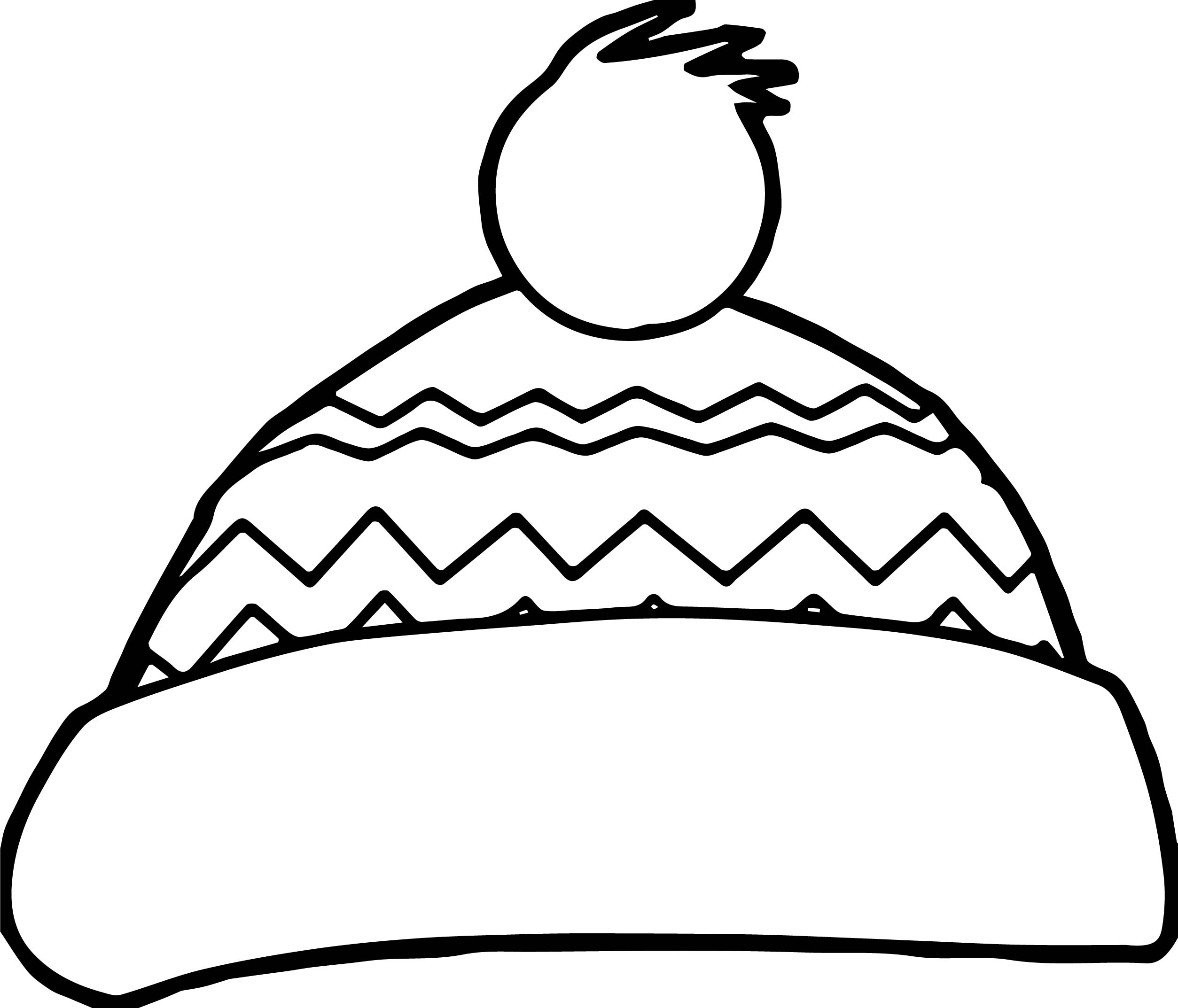 2507x2146 Winter Snow Hat Coloring Page Wecoloringpage