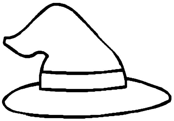 600x419 Witches Hat Colouring Sheet Murderthestout