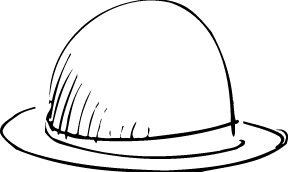 288x172 Beautiful Hat Colouring Page For Kids