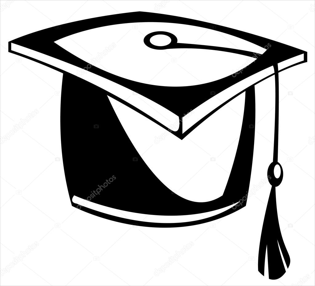 1023x930 Vector Hat Graduate Isolated On White Background Stock Vector