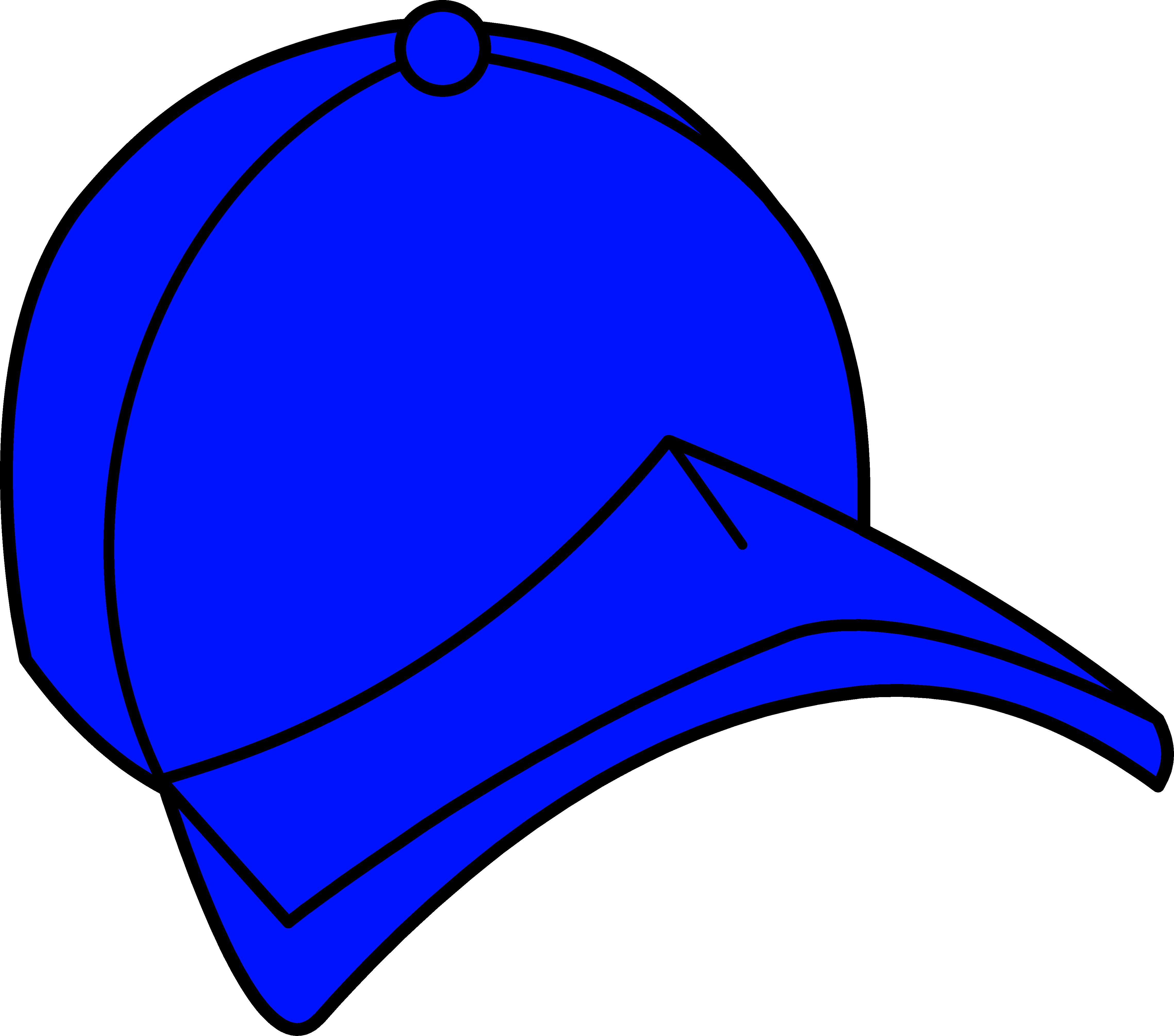 4554x4020 Blue Baseball Cap Clipart