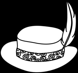 298x279 Hat Outline Clip Art