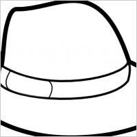 200x200 Hat Outline Clip Art Clipart Panda