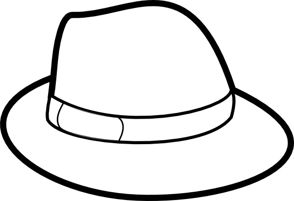 600x410 Hat Outline Clip Art Free Vector In Open Office Drawing Svg ( Svg