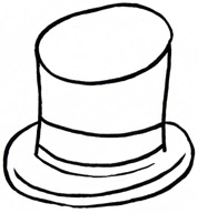 178x192 Hat Clipart Outline