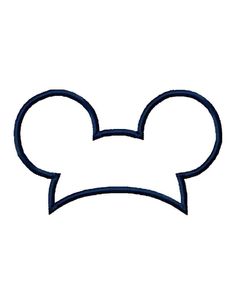 816x1056 Mickey Mouse Ears Hat Clip Art