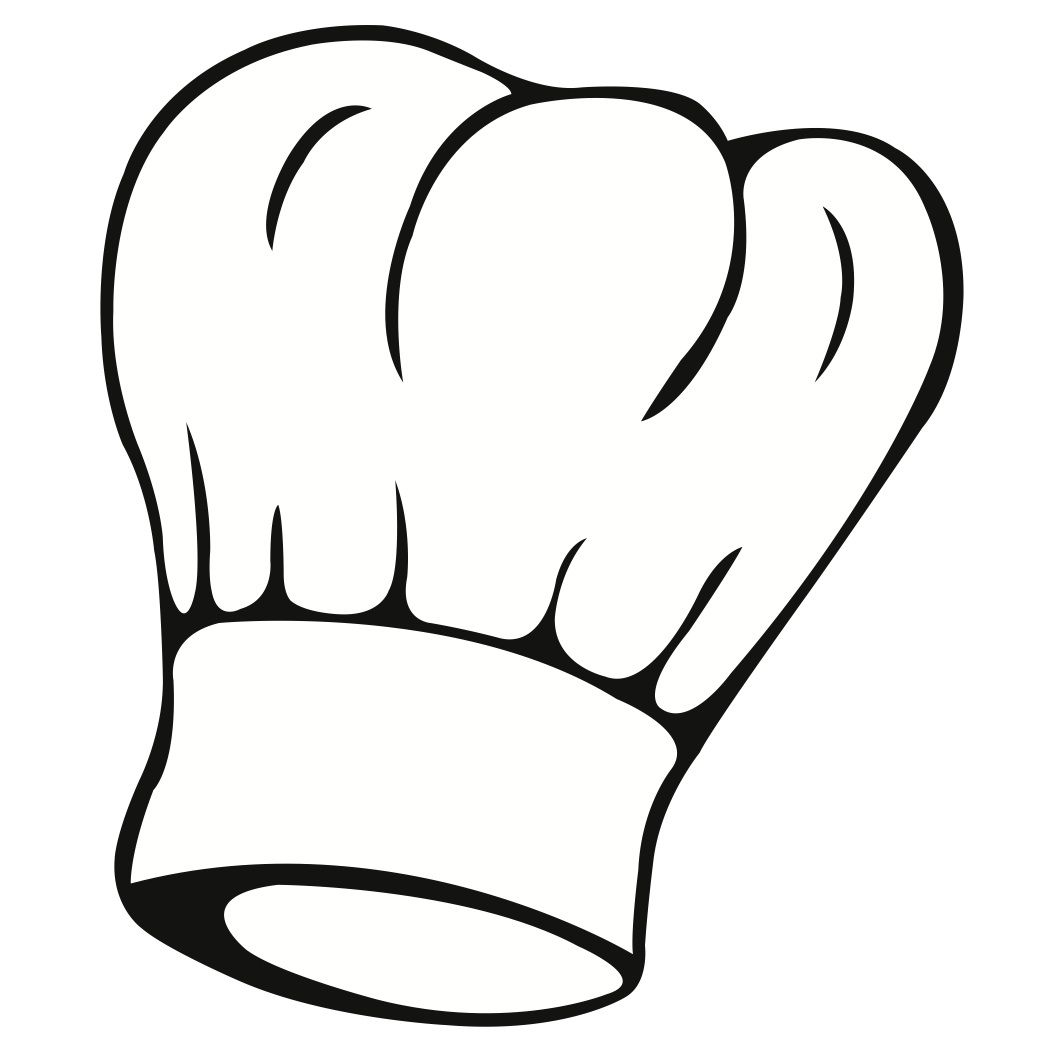 1050x1050 Outlined Chef Hat Clip Art
