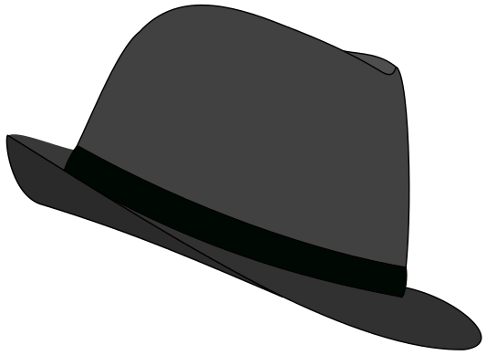 533x389 Fedora Hat Gray