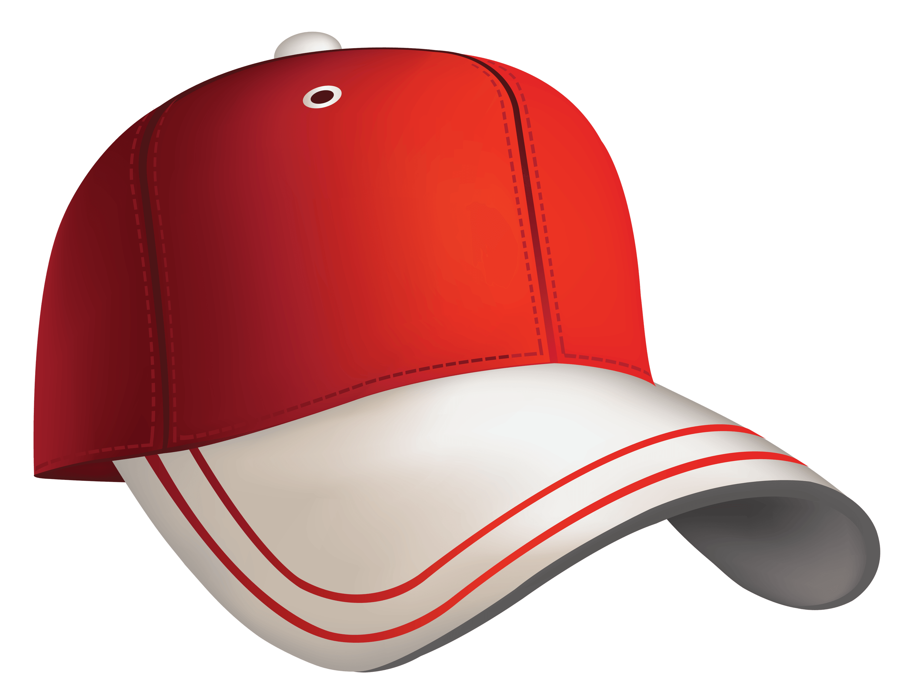 3000x2335 Red White Cap Transparent Png