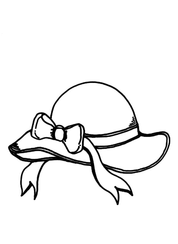 600x823 Beach Hat Coloring Page Kids Drawing And Pages
