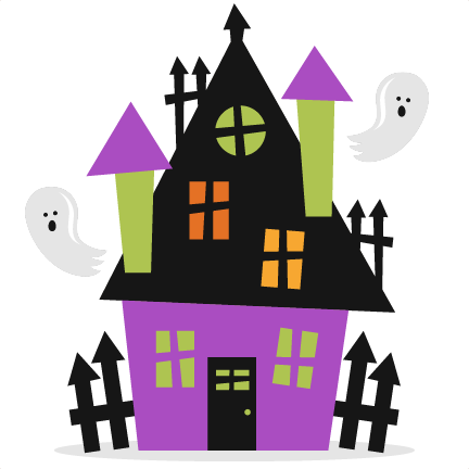 432x432 Halloween Haunted House Svg Scrapbook Cut File Cute Clipart Files