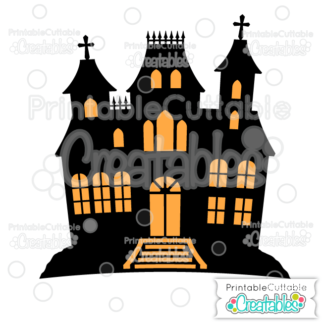 650x650 Haunted House Free Svg File Amp Clipart For Silhouette, Cricut Machines