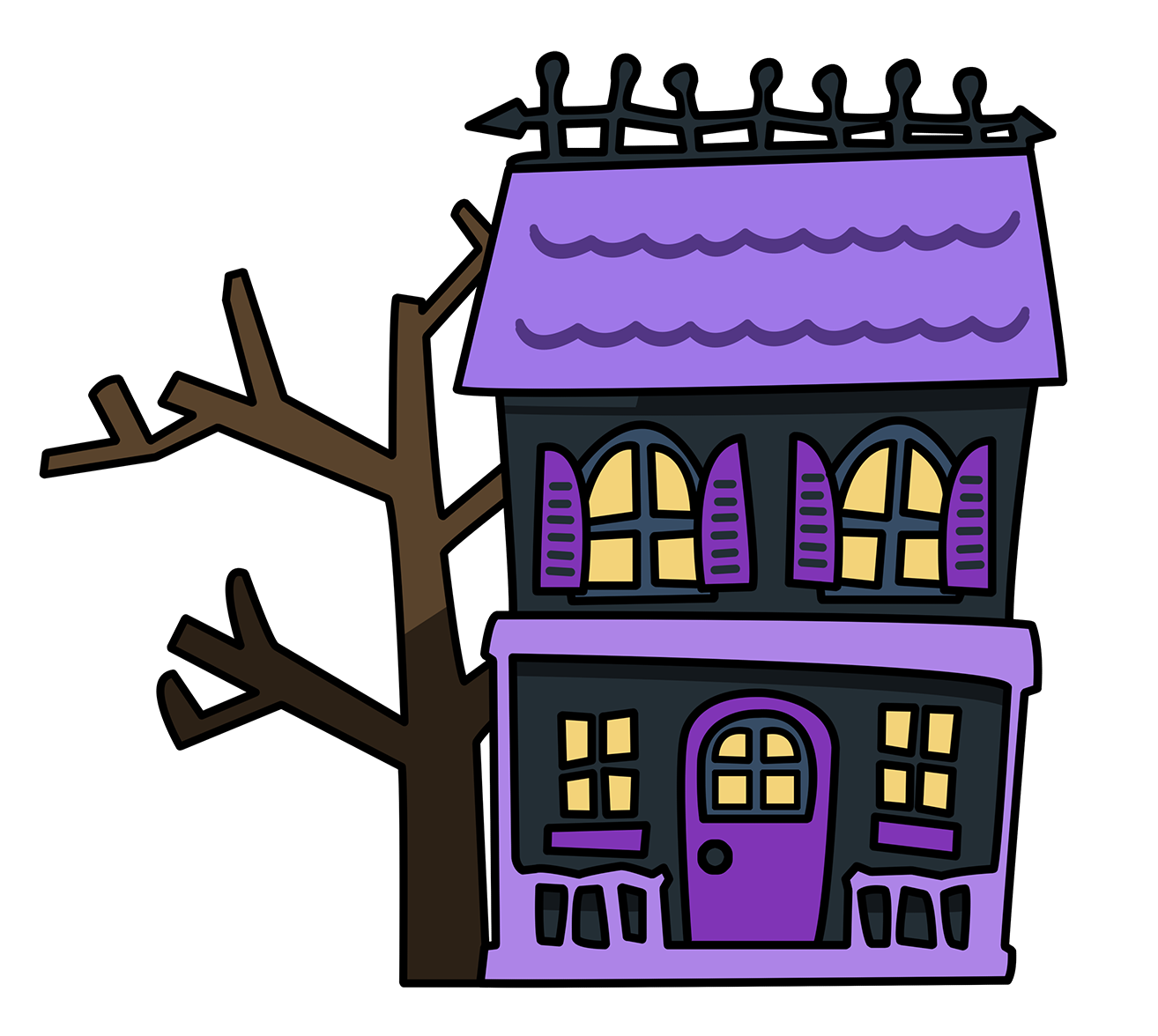 1314x1176 Haunted Clipart Simple