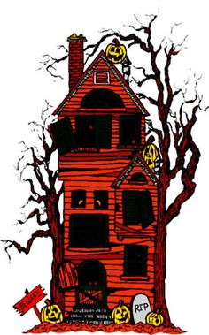 236x379 Haunted House Clip Art