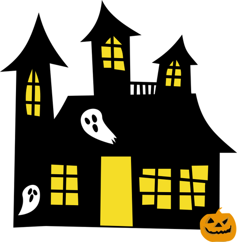 490x500 Haunted House Drawing Public Domain Vectors