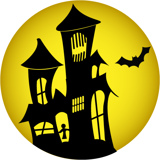 512x512 Horror Clipart Haunted Castle