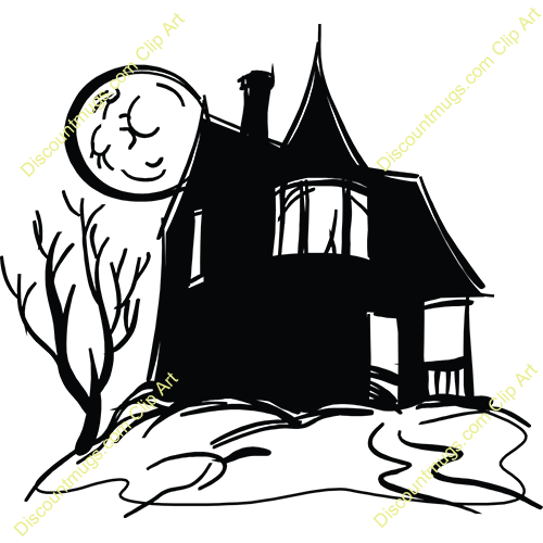 500x500 Spooky Clipart Haunted Castle