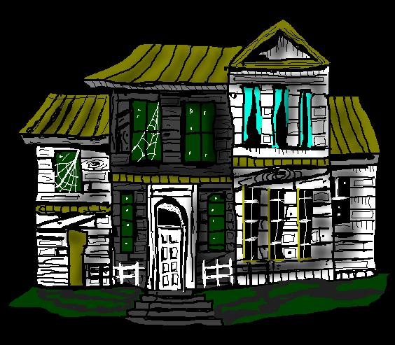 564x493 Free Haunted House Clip Art