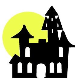 258x270 Halloween Haunted House Clipart