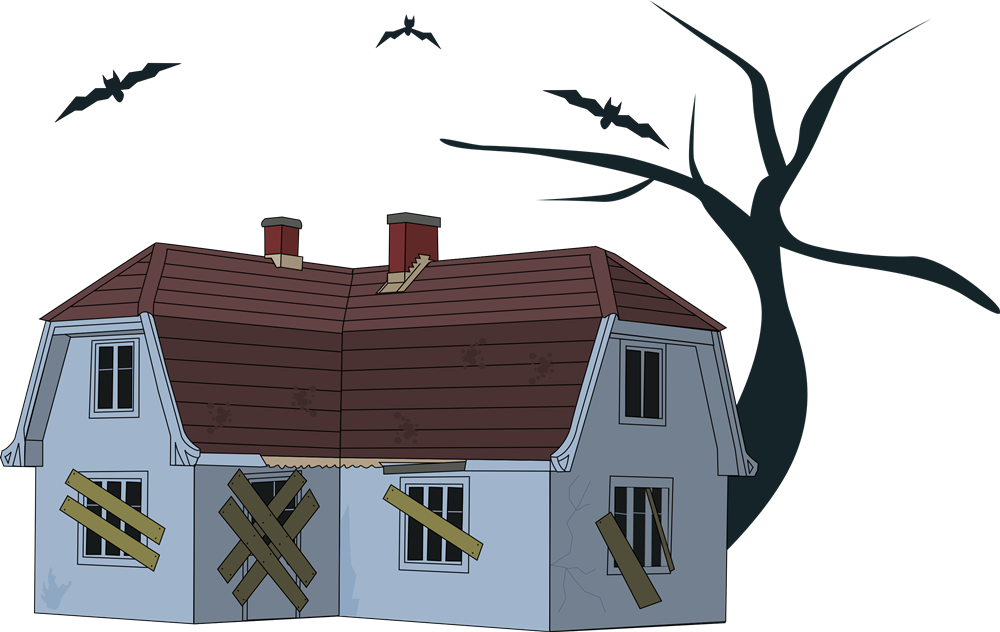 1000x632 Haunted House Clipart Comic