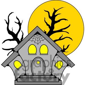 300x300 Haunted House Clip Art