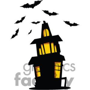 300x300 Cartoon Haunted House Clip Art