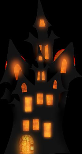 268x500 Cute Haunted House Cutout