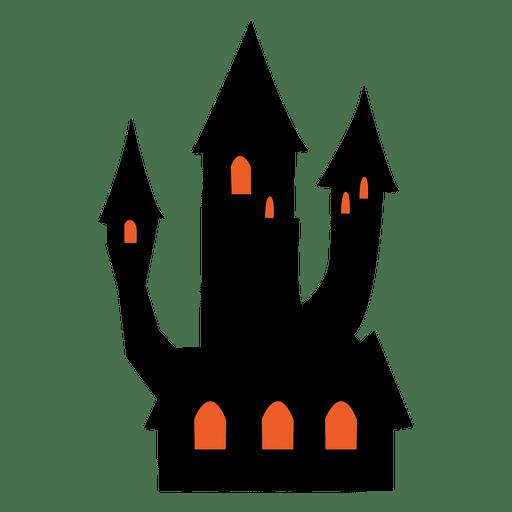 512x512 Happy Halloween Haunted House Poster