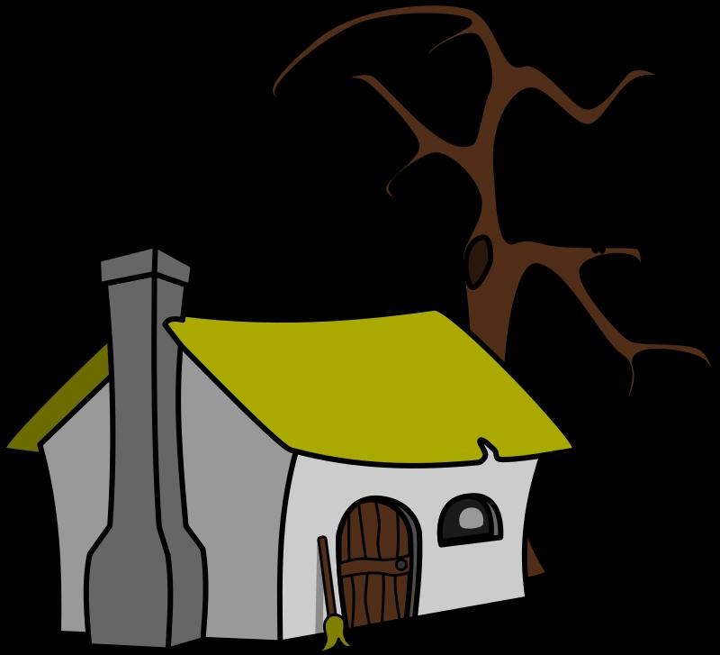 800x727 Haunted Cabin Clipart