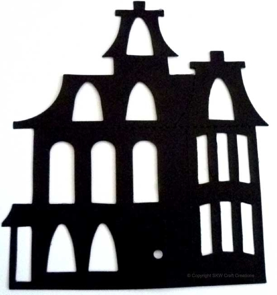 563x600 Haunted House Cut Out Template