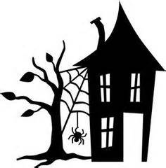 236x240 Haunted House Silhouette Templates