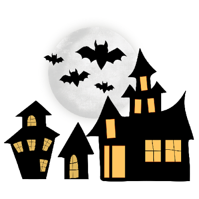 400x400 Haunted House Clipart Transparent