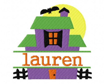 340x270 Haunted House Pattern Etsy