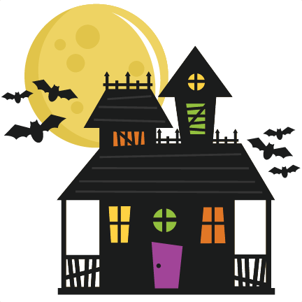 432x432 House Svg Cut File Haunted House Svg File Haunted House Cut File