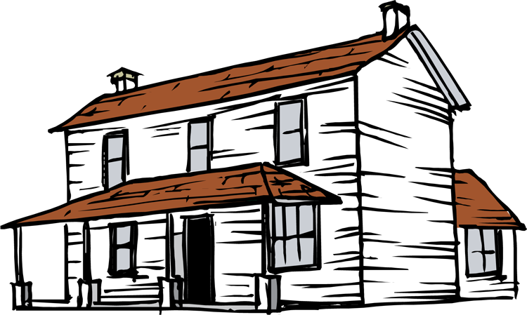 750x449 Cartoon Haunted House Clipart