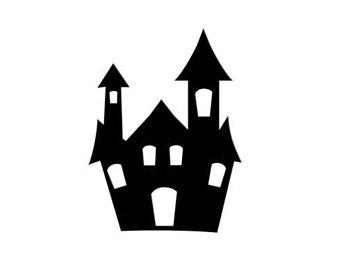 340x270 Halloween Haunted House Die Cut Silhouette From Prettypackaging