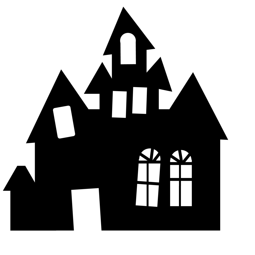 1024x1024 Haunted House Fence Clipart