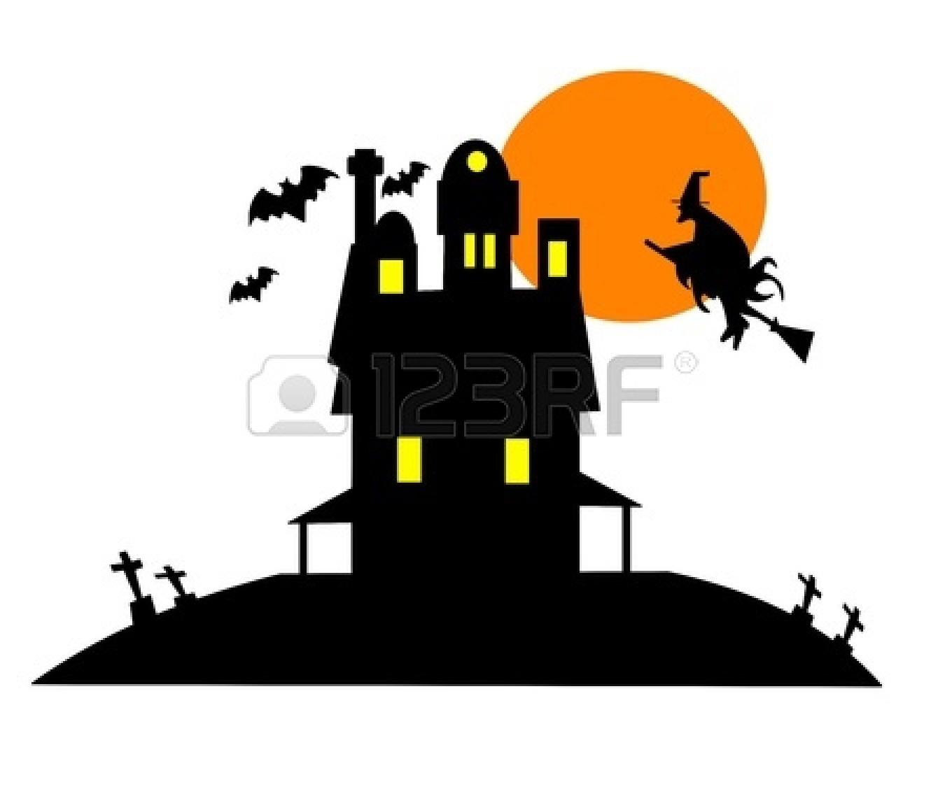 1350x1128 Haunted House Clipart Halloween Graveyard