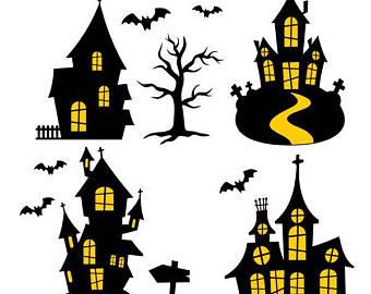 340x270 Haunted House Svg Etsy