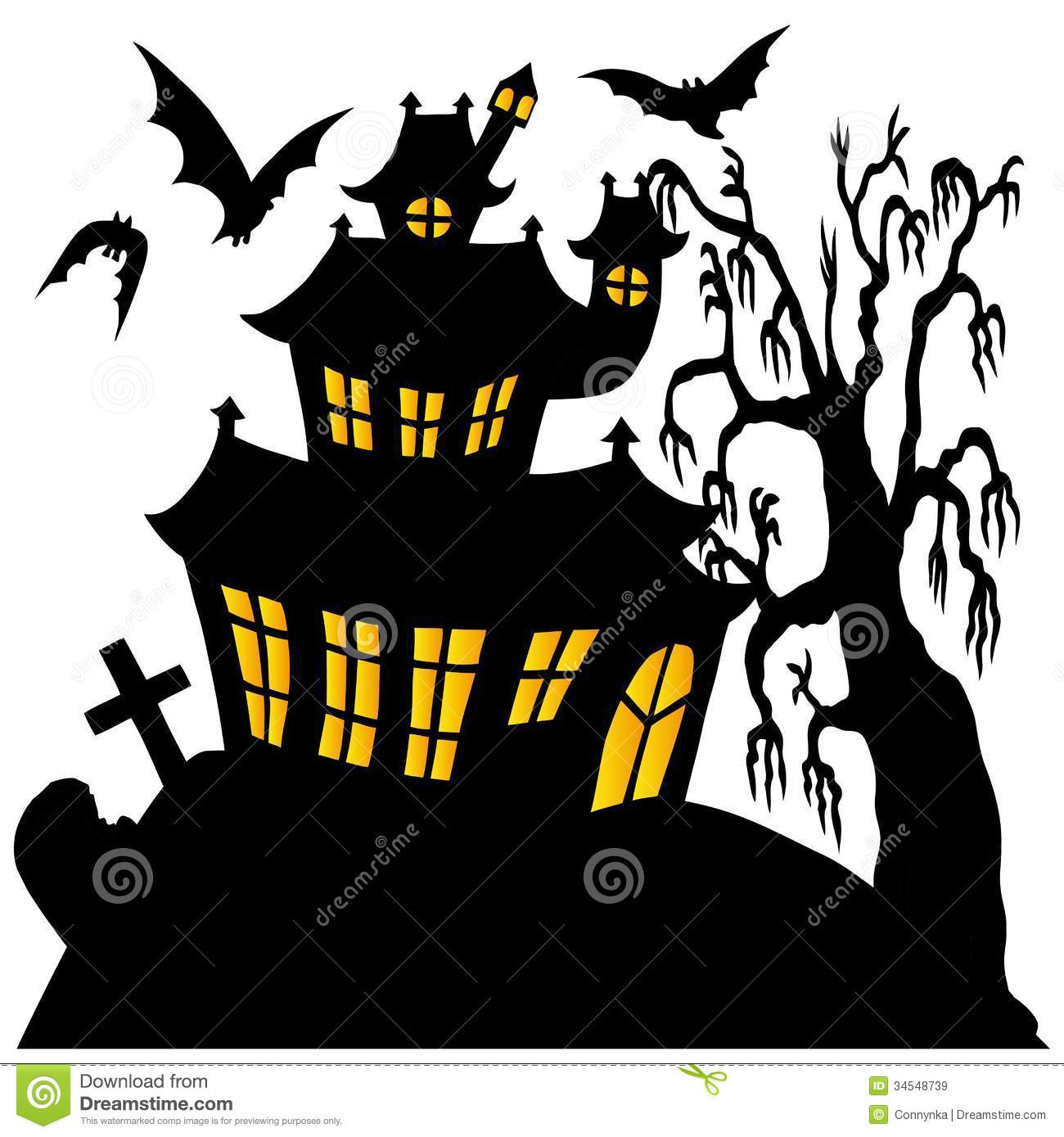 1300x1389 Spooky Clipart Silhouette